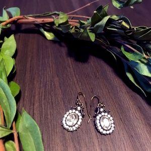 Vintage Elegant Bronze Crystal Drop Earrings